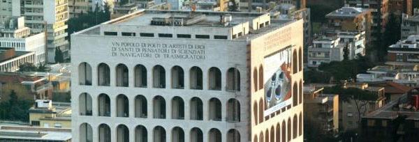 allestimento ponteggio palazzo della civiltà roma