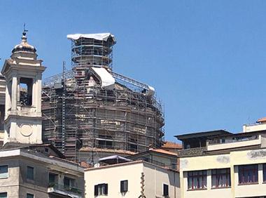 ponteggio_chiesa_santameria_maggiore_valmontone